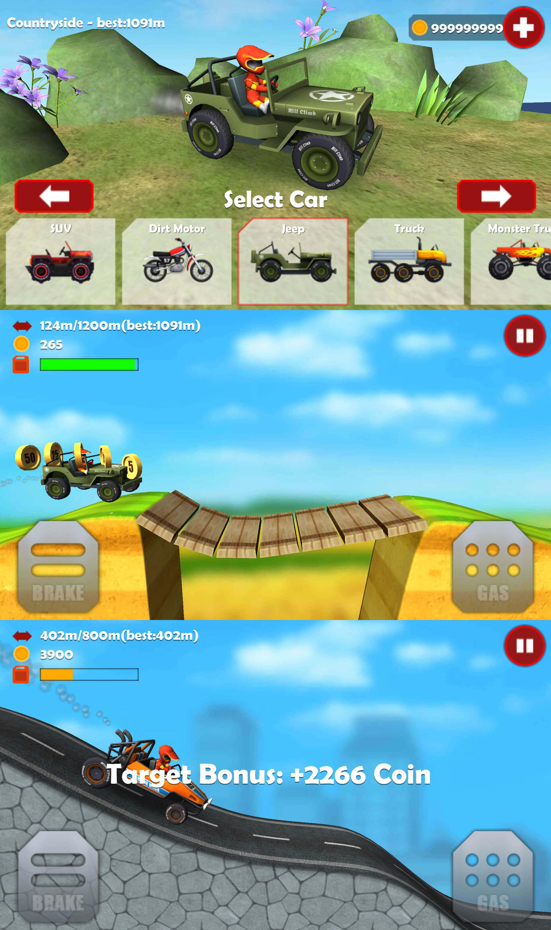 山地越野车3D无限金币版 休闲娱乐越野赛车游戏