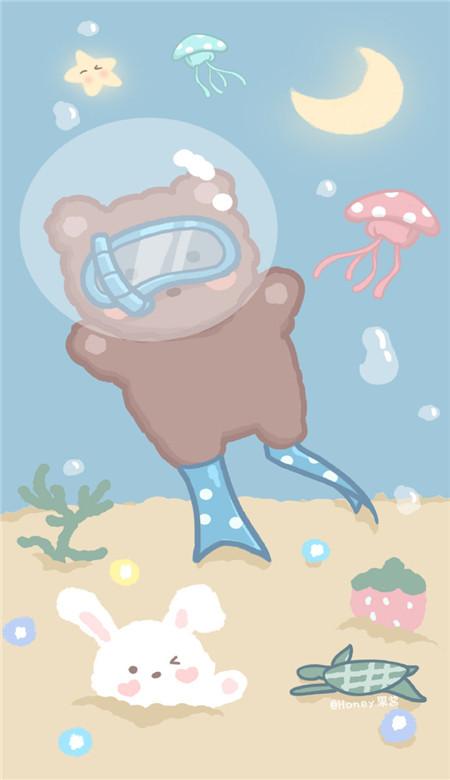 可爱卡通形象手机壁纸2020 萌萌哒日系手机壁纸图片