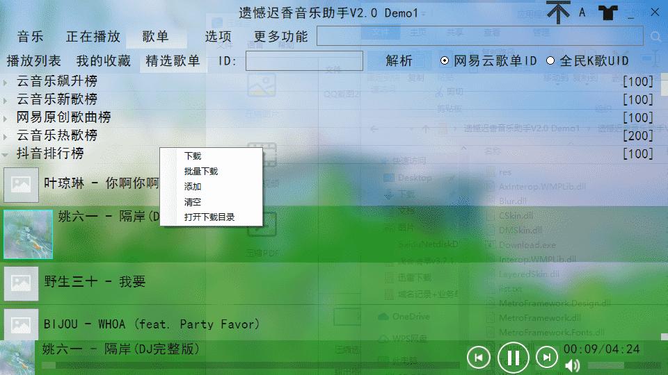 遗憾迟香音乐助手v2.0 无损音乐工具