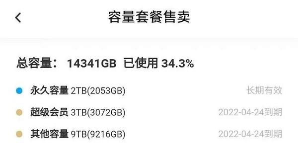百度网盘赠送网盘储存空间 最高16T