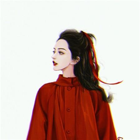 复古风手绘女生背景图片 手绘女生好看的图片素材
