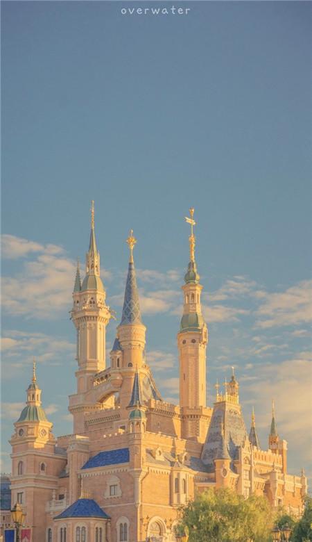 迪士尼城堡手机壁纸高清 唯美梦幻迪士尼城堡壁纸图片